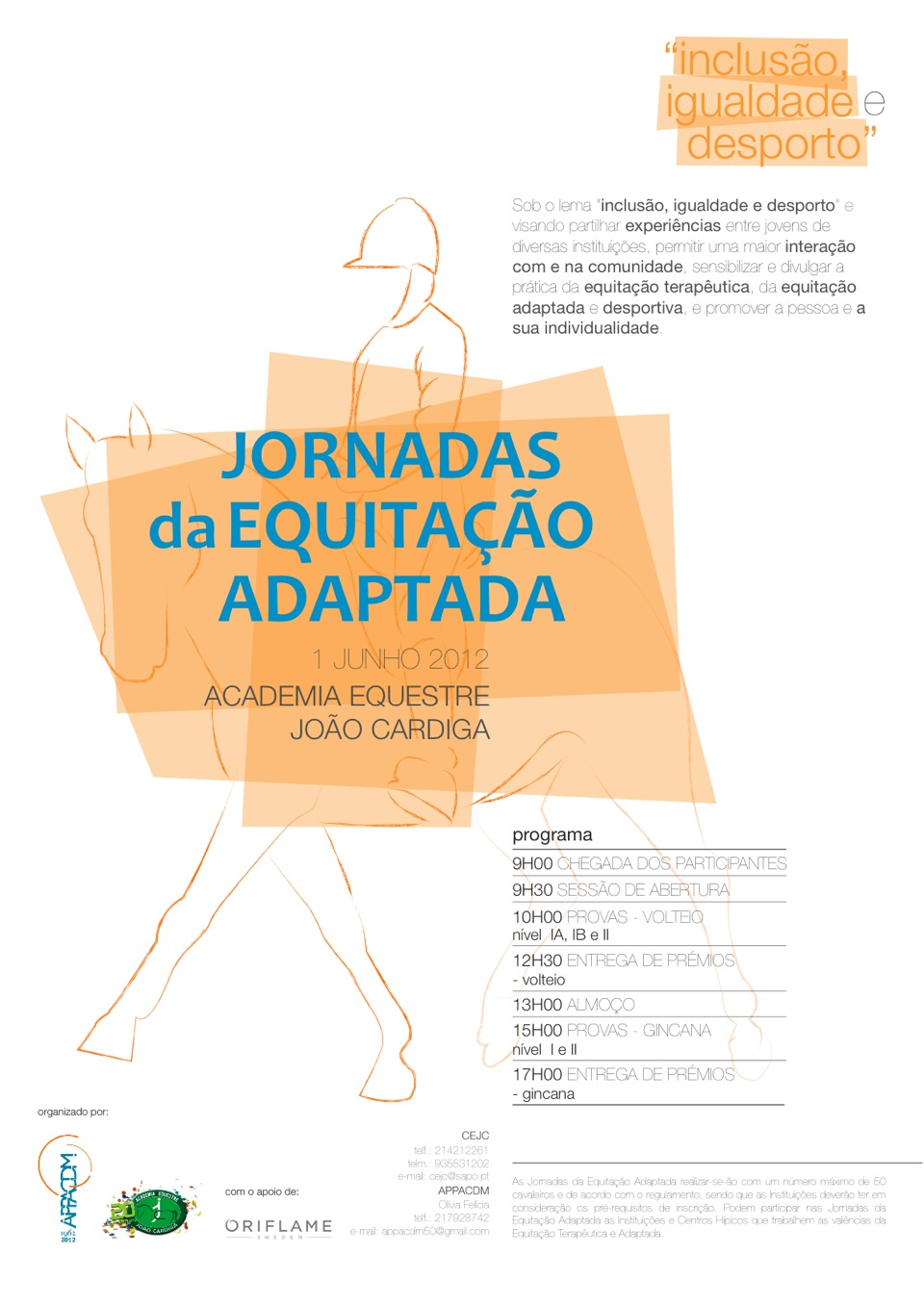 Imagem do cartaz do evento de Equitação Adaptada